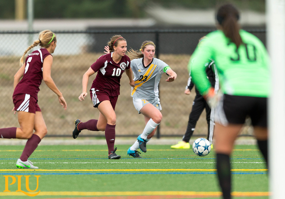 PLU women vs, UPS on Wednesday, Sept. 16, 2015. (Photo: John Froschauer/PLU)