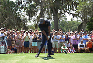 Tiger Woods<br /> High speed swing sequence face on with an iron<br /> May 2018