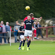 Dundee&rsquo;s Lewis Spence and Brechin's Andy Jackson  - Brechin City v Dundee pre-season friendly at Glebe Park, Brechin, Photo: David Young<br /> <br />  - &copy; David Young - www.davidyoungphoto.co.uk - email: davidyoungphoto@gmail.com