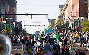 Floats move south on Court Street during the Homecoming Parade on Saturday, October 13, 2007 in Athens, Ohio..Photo by Kevin Riddell