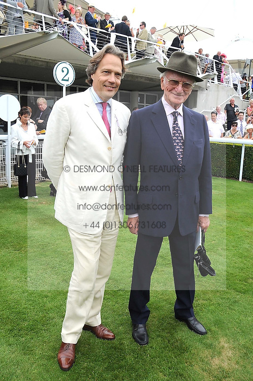Left to right, the EARL OF MARCH and SIR PETER O'SULLEVAN at the 3rd day of the 2008 Glorious Goodwood racing festival at Goodwood Racecourse, West Sussex on 31st July 2008.<br /> <br /> NON EXCLUSIVE - WORLD RIGHTS