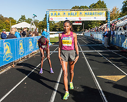 Boston Athletic Association Half Marathon,  Mamitu Daska wins over Limo