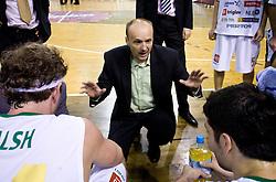 Coach of Union Olimpija Jure Zdvoc at basketball match of NLB League between KK Union Olimpija and KK Crvena zvezda,  on October 24, 2009, Arena Tivoli, Ljubljana, Slovenia.  Union Olimpija won 94:76.  (Photo by Vid Ponikvar / Sportida)