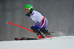 Alexander VETROV competing in the Alpine Skiing Super Combined Slalom at the 2014 Sochi Winter Paralympic Games, Russia