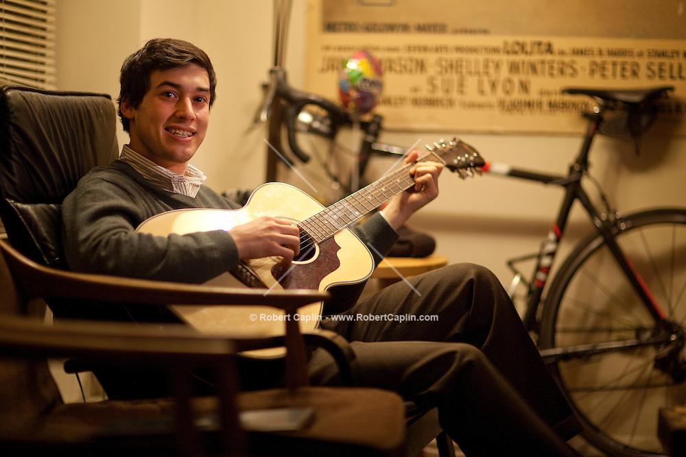 Portrait of Jonathan Fainberg uses a dating website called Datemyschool.com...Photo by Robert Caplin