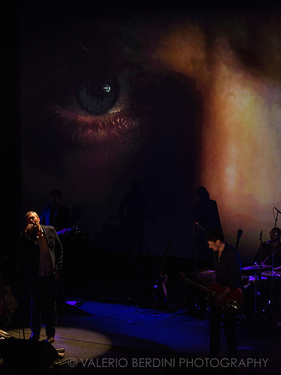 Tindersticks live at the Corn Exchange in Cambridge on 6 May 2016 performing their latest album live along the film The Waiting Room