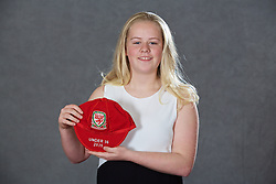 NEWPORT, WALES - Saturday, May 21, 2016: Natasha Jones at the Under-16's cap presentation at the Celtic Manor Resort. (Pic by David Rawcliffe/Propaganda)