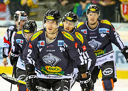 10.12.2017, Albert Schultz Halle, Wien, AUT, EBEL, UPC Vienna Capitals vs Dornbirner Eishockey Club, Grunddurchgang, 27. Runde, im Bild Torschuetze Olivier Magnan (Dornbirner Eishockey Club) // during the Erste Bank Icehockey League 27th round match between UPC Vienna Capitals and Dornbirner Eishockey Club at the Albert Schultz Halle in Vienna, Austria on 2017/12/10. EXPA Pictures © 2017, PhotoCredit: EXPA/ Alexander Forst