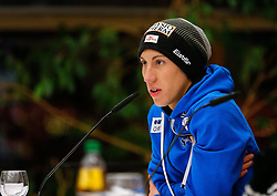 26.12.2014, Oberstdorf Haus, Oberstdorf, GER, FIS Ski Sprung Weltcup, 63. Vierschanzentournee, Offizielle Pressekonfernz, im Bild Thomas Diethart (AUT) //Thomas Diethard of Austria// during official Press Conference of 63 rd Four Hills Tournament of FIS Ski Jumping World Cup at the Oberstdorf Haus, Oberstdorf, Germany on 2014/12/26. EXPA Pictures © 2014, PhotoCredit: EXPA/ Peter Rinderer