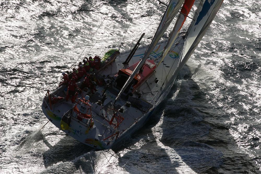 FRANCE,  Point Penmarc'h. 1st July 2012. Volvo Ocean Race, Leg 9 Lorient-Galway. Team Sanya.