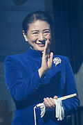 Crown Princess Masako waves to well-wishers during a public appearance for New Year celebrations at the Imperial Palace in Tokyo, Japan, January 2, 2018. 02/01/2018-Tokyo, JAPAN