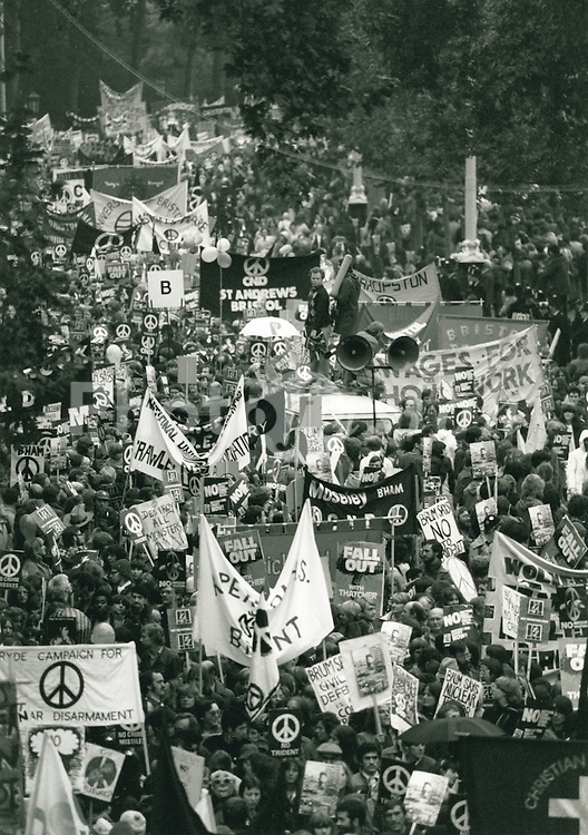 CND demonstration; London 1981