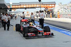 22.10.2010, Korea International Circuit, Yeongam, KOR, F1 Grandprix of Korea, im Bild .Lewis Hamilton (GBR), McLaren F1 Team, EXPA Pictures © 2010, PhotoCredit: EXPA/ InsideFoto/ Hasan Bratic *** ATTENTION *** FOR AUSTRIA AND SLOVENIA USE ONLY!