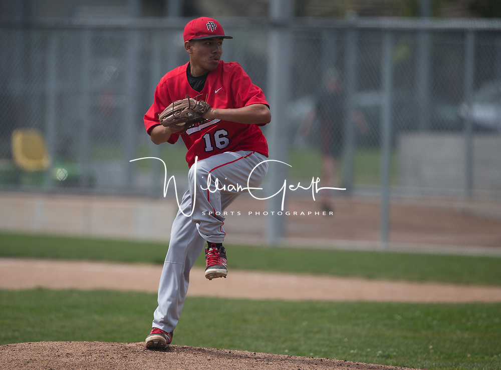 (Photograph by Bill Gerth/ for SVCN/4/15/17) Cupertino vs Mt Pleasant in a Non League Baseball Game at Cupertino High School, Cupertino CA on 4/15/17.