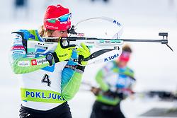 Lenar Oblak of Slovenia during Slovenian National Cup in Biathlon, on December 30, 2017 in Rudno polje, Pokljuka, Slovenia. Photo by Ziga Zupan / Sportida