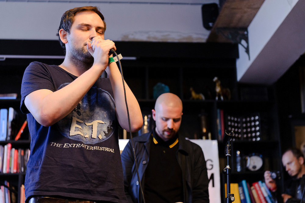 Photos of the band The Twilight Sad performing at KEX hostel in Reykjavik for Iceland Airwaves music festival. October 14, 2011. Copyright © 2011 Matthew Eisman. All Rights Reserved.