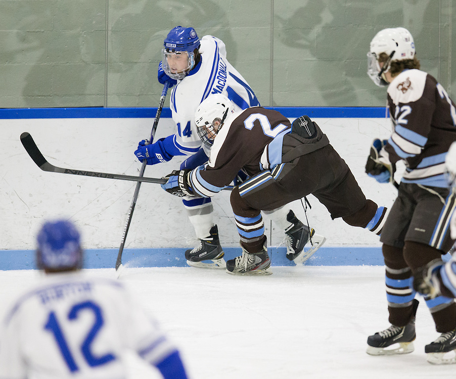 Cam MacDonald, of Colby College, in a NCAA Division III hockey game against Tufts University on February 20, 2015 in Waterville, ME. (Dustin Satloff/Colby College Athletics)