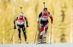 Lisa Theresa Hauser of Austria competes during Women 7.5 km Sprint at day 1 of IBU Biathlon World Cup 2014/2015 Pokljuka, on December 18, 2014 in Rudno polje, Pokljuka, Slovenia. Photo by Vid Ponikvar / Sportida