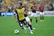 21.04.2013 Sydney, Australia. Mariners Maltese midfielder and captain John Hutchinson in action during the Hyundai A League grand final game between Western Sydney Wanderers FC and Central Coast Mariners FC from the Allianz Stadium.Central Coast Mariners won 2-0.