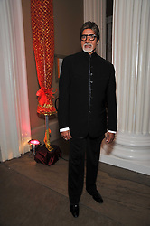Bollywood superstar Amitabh Bachcha  at the Royal Rajasthan Gala 2009 benefiting the Indian Head Injury Foundation held at The Banqueting House, Whitehall, London on 9th November 2009.