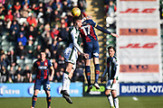 David Fox (24) of Plymouth Argyle battles for possession with Alex Gilliead (17) of Bradford City during the EFL Sky Bet League 1 match between Plymouth Argyle and Bradford City at Home Park, Plymouth, England on 24 February 2018. Picture by Graham Hunt.