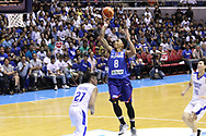 November 27, 2017 - Quezon City, NCR, Philippines - Calvin Abueva (8) of the Philippines soars over Jhen Huang (27) from Chinese Taipei to convert an uncontested lay-up during their FIBA World Cup Qualifying Match..Gilas Pilipinas defeated the visiting Chinese Taipei team 90-83 to complete a sweep of their first two assignments in the FIBA 2019 World Cup qualifiers. (Credit Image: © Dennis Jerome S. Acosta/Pacific Press via ZUMA Wire)