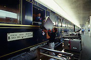 Venice Simplon-Orient-Express. Loading luggage in Venice.