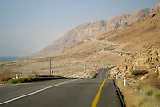 winding road following the dead sea