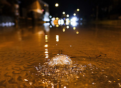 © Licensed to London News Pictures. 29/12/15<br /> York, UK. <br /> <br /> A drain bubbles as flood water begins to subside on Huntington Road in York. Further rainfall is expected over coming days as Storm Frank approaches the east coast of the country.<br /> <br /> Photo credit : Ian Forsyth/LNP