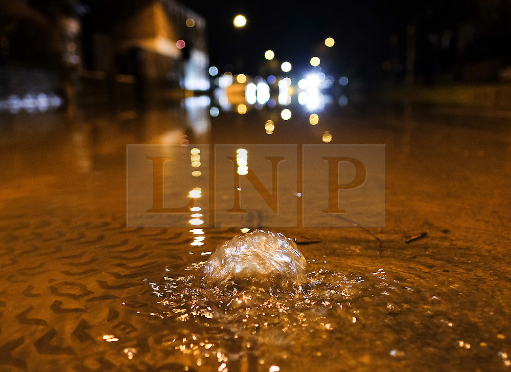 &copy; Licensed to London News Pictures. 29/12/15<br /> York, UK. <br /> <br /> A drain bubbles as flood water begins to subside on Huntington Road in York. Further rainfall is expected over coming days as Storm Frank approaches the east coast of the country.<br /> <br /> Photo credit : Ian Forsyth/LNP