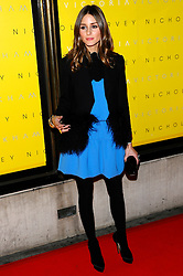 Olivia Palermo arrives for the Unveiling of her Victoria Beckham Clothing Line at Harvey Nichols, London, Friday February 17, 2012. Photo By i-Images