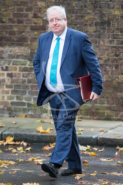 Downing Street, London, November 15th 2016.  Chancellor of the Duchy of Lancaster Patrick McLoughlin arrives in Downing Street for the weekly cabinet meeting.