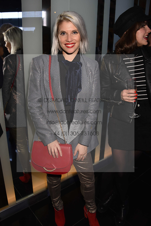 Pips Taylor and guest at the official launch of The Perception at W London, 10 Wardour Street, London England. 7 November 2017.<br /> Photo by Dominic O'Neill/SilverHub 0203 174 1069 sales@silverhubmedia.com