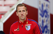 Harry Kane of England prior to the International Friendly match at the Stadium Of Light, Sunderland<br /> Picture by Simon Moore/Focus Images Ltd 07807 671782<br /> 27/05/2016