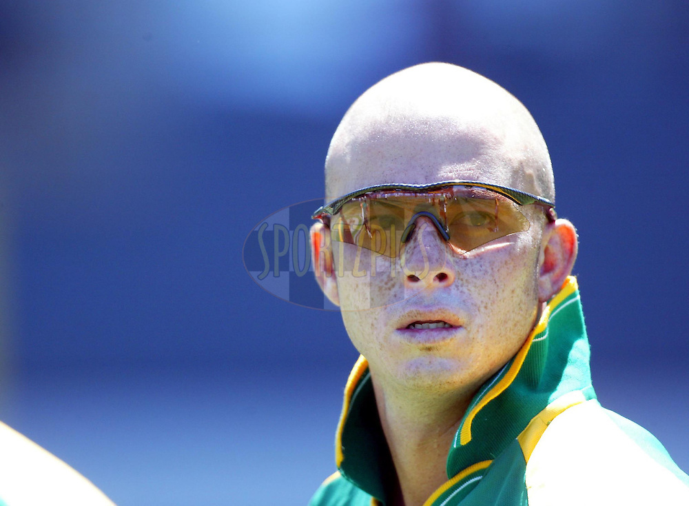 13 February 2004, International one day cricket, Eden Park, Auckland, New Zealand. Match 1 in series of 6, New Zealand vs South Africa..Herschelle Gibbs..Pic: Andrew Cornaga/Photosport