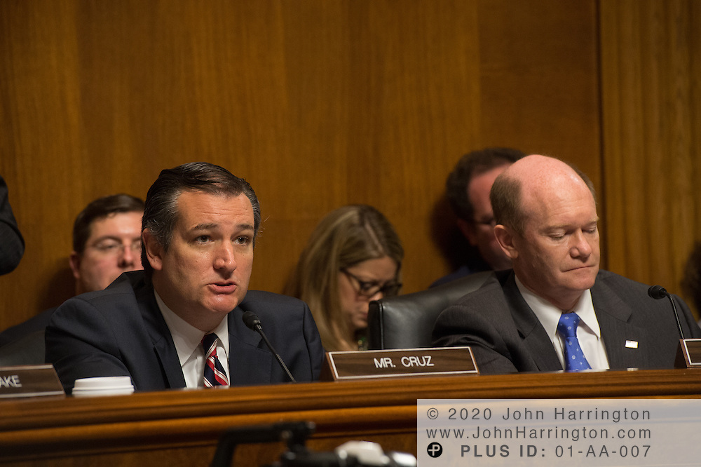 "Sen. Ted Cruz during a hearing Wednesday September 14, 2016, before the Subcommittee on Oversight, Agency Action, Federal Rights and Federal Courts, testimony was also heard from The Honorable Lawrence E. Strickling, Assistant Secretary for Communications and Information and Administrator<br /> National Telecommunications and Information Administration (NTIA), United States Department of Commerce;  Mr. Göran Marby, CEO and President, Internet Corporation for Assigned Names and Numbers (ICANN); Mr. Berin Szoka, President, TechFreedom; Mr. Jonathan Zuck, President, ACT The App Association;  Ms. Dawn Grove, Corporate Counsel<br /> Karsten Manufacturing; Ms. J. Beckwith (""Becky"") Burr, Deputy General Counsel and Chief Privacy Officer, Neustar;  Mr. John Horton, President and CEO, LegitScript;  Mr. Steve DelBianco, Executive Director, NetChoice; Mr. Paul Rosenzweig, Former Deputy Assistant Secretary for Policy, U.S. Department of Homeland Security."