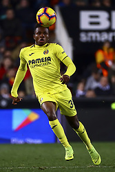 January 26, 2019 - Valencia, Spain - Samuel Chimerenca Chukwueze of Villarreal CF  during  spanish La Liga match between Valencia CF vs Villarreal CF at Mestalla Stadium on Jaunary  26, 2019. (Credit Image: © Jose Miguel Fernandez/NurPhoto via ZUMA Press)