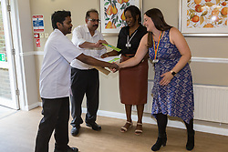 Care UK's Franklin House care home in West Drayton, London, has been awarded a Two Years Pressure Prevention Award from North West London NHS Foundation, in collaboration with Hillingdon TVN Team and Hillingdon CCG. Head Chef Denzil Dias receives his award for 5 years' service. London, July 11 2019.