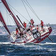 © María Muiña I MAPFRE: El MAPFRE sale de Sanxenxo rumbo a Cowes (Inglaterra) para participar en la Fasnet  para la etapa 0 de la Volvo Ocean Race. MAPFRE leaves Sansenxo towards Cowes to participate at the Fasnet Race for Leg 0 of the Volvo Ocean Race.