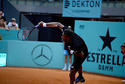 May 6, 2019 - Madrid, Spain - GaÃ«l  Monfils (FRA) in his match against Andreas Seppi (ITA) during day three of the Mutua Madrid Open at La Caja Magica in Madrid on 6th May, 2019. (Credit Image: © Juan Carlos Lucas/NurPhoto via ZUMA Press)