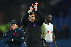 December 23, 2018 - Liverpool, Liverpool, United Kingdom - Tottenham Hotspur manager Mauricio Pochettino applauds the fans after the final whistle during the Premier League match at Goodison Park, Liverpool, UK.  Everton v Tottenham Hotspur - Premier League - Goodison Park. Goodison Park. (Credit Image: © Anthony Devlin/i-Images via ZUMA Press)