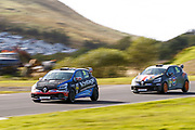 Finlay Robinson(GBR) Westbourne Motorsport & Luke Warr(GBR) Specialized Motorsport during Round 14 of the Renault UK Clio Cup at Knockhill Racing Circuit, Dunfermline, Scotland on 15 September 2019.
