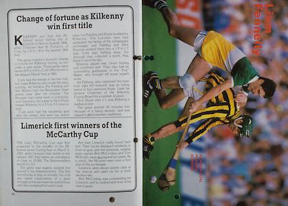 All Ireland Senior Hurling Championship Final, .06.09.1987, 09.06.1987, 6th September 1987, .Kilkenny v Galway, .Galway 1-12, Kilkenny 0-9,.06091987AISHCF, .Senior Kilkenny v Galway,.Minor Tipperary v Offaly,  ..Limerick, McCarthy Cup, Liam Fennelly,