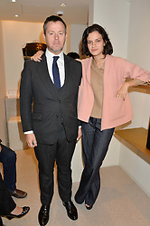WILLIAM LING and his daughter EVANGELINE LING at a party to celebrate the collaboration of J&M Davidson and Tanya Lingheld at J&M Davidson, 104 Mount Street, London on 18th October 2016.