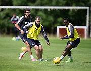 Dundee new boy Sofien Moussa watches Paul McGowan and Roarie Deacon during Dundee FC training at Michelin Grounds, Dundee, Photo: David Young<br /> <br />  - &copy; David Young - www.davidyoungphoto.co.uk - email: davidyoungphoto@gmail.com