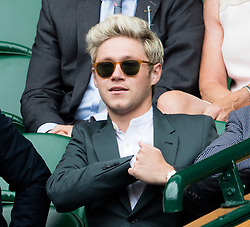 WIMBLEDON - GB -  4th July 2016: The Wimbledon Tennis Championship continues at the All England Lawn Tennis Club in S.E. London.<br /> <br /> One Direction's Niall Horan<br /> <br /> Photo by Ian Jones