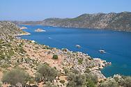 Aerial view of the Bay of Kekova<br /> south coast Turkey<br /> c. Ellen Rooney