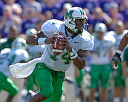 Marshall quarterback Bernard Morris rolls out against Kansas State at Bill Snyder Family Stadium in Manhattan, Kansas, September 16, 2006.  The Wildcats beat the Thundering Herd 23-7.