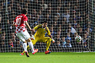 Anas Sharbini of Croatia scores the opening goal against Argentina during the International Friendly match at the Boleyn Ground, London<br /> Picture by David Horn/Focus Images Ltd +44 7545 970036<br /> 12/11/2014