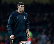 Seb Davies of Wales during the pre match warm up<br /> <br /> Photographer Simon King/Replay Images<br /> <br /> Under Armour Series - Wales v Tonga - Saturday 17th November 2018 - Principality Stadium - Cardiff<br /> <br /> World Copyright © Replay Images . All rights reserved. info@replayimages.co.uk - http://replayimages.co.uk